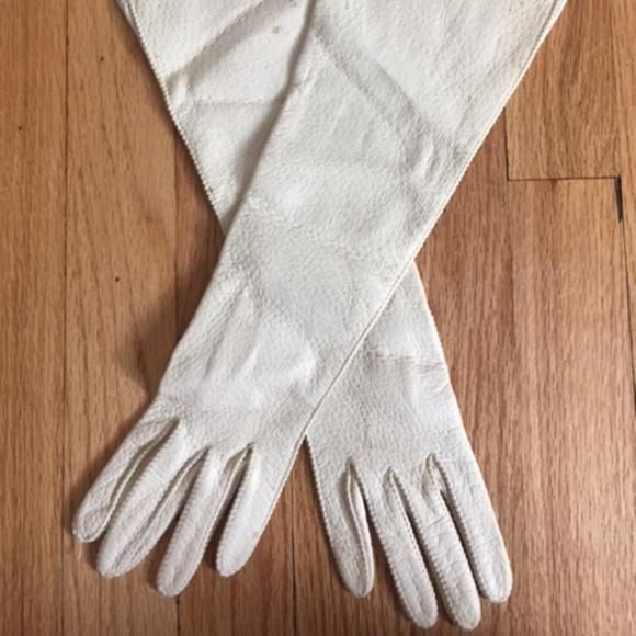 49f41db71 Hansen Other | Vintage Cream Long Leather Gloves In Women | Poshmark